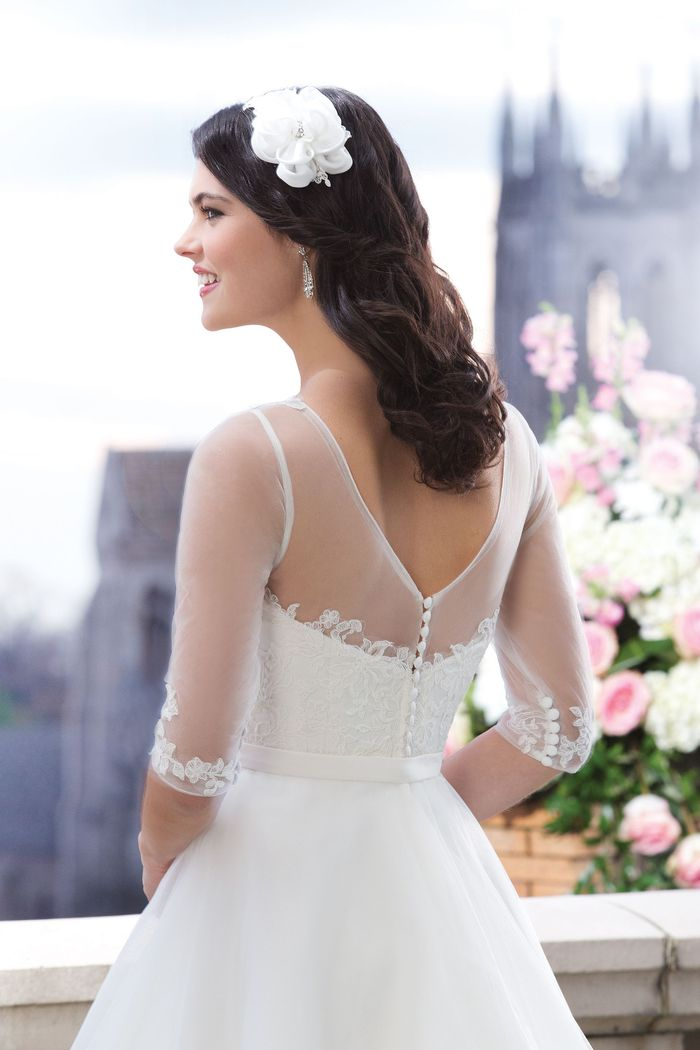 Sincerity Bridal Style 3762 Tulle ball gown highlighted with a Sabrina neckline