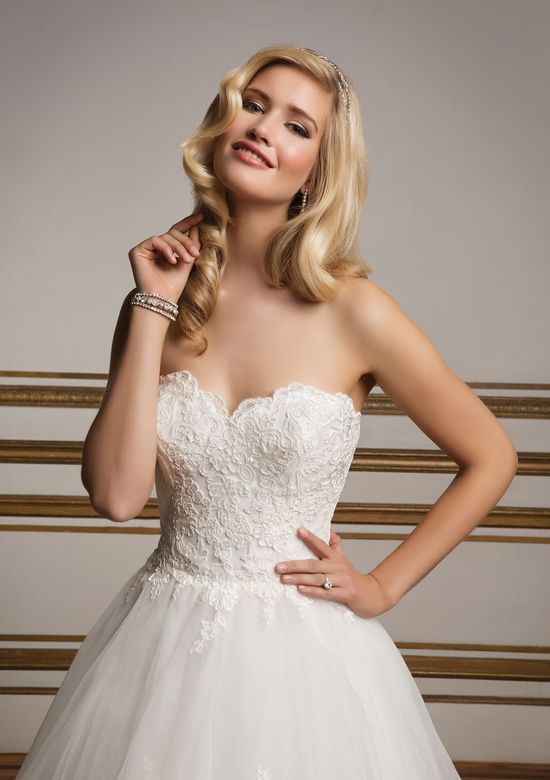 Justin Alexander Style 8823 Sweetheart Bodice and Tiered Lace Ball Gown