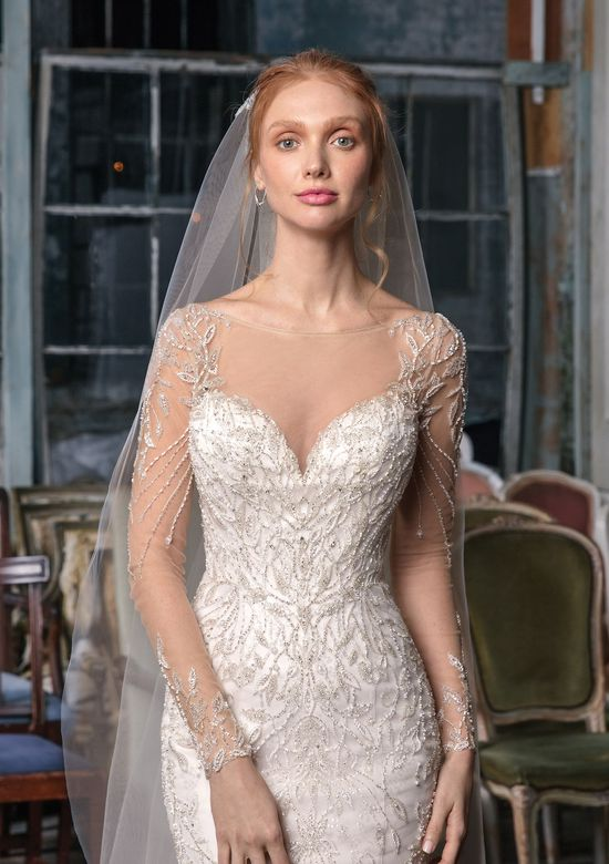 Justin Alexander Signature Style 99014V Simple Cathedral Length Veil