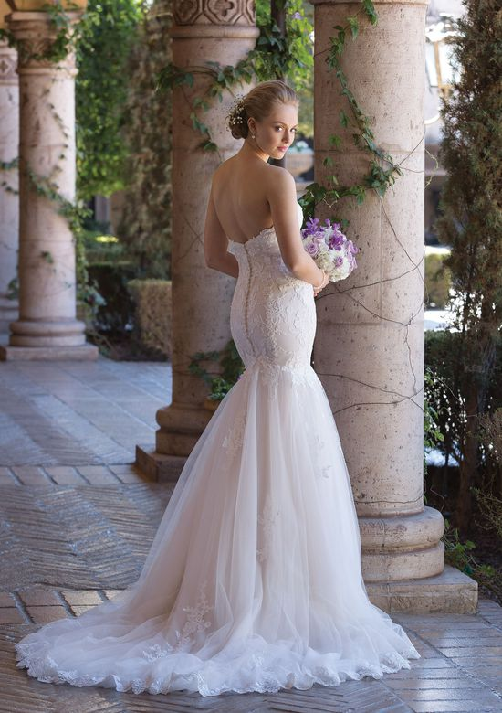 Sincerity Bridal Style 4035 Corded Lace and Tulle Mermaid Gown with Sweetheart Necklinev