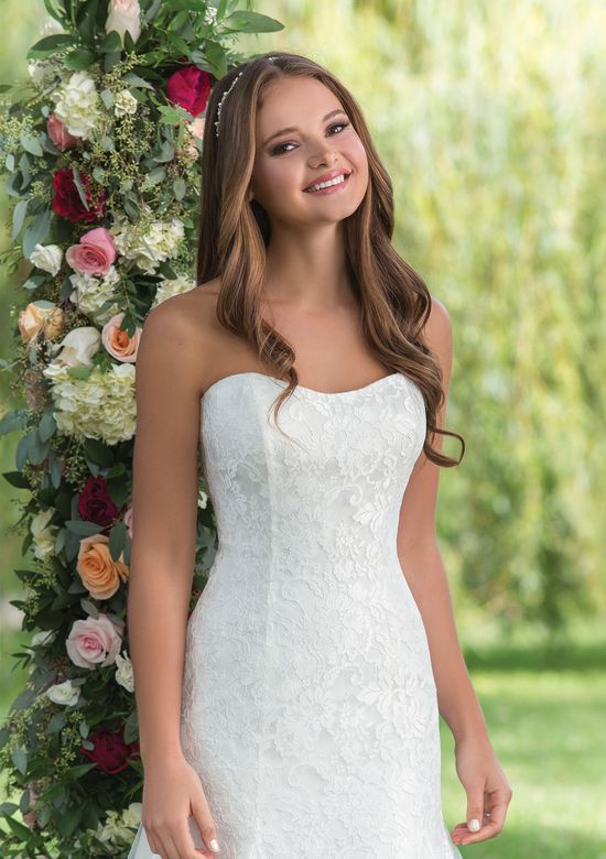 Sweetheart Gowns Style 6144 Strapless Slim A-Line with Layers of Tulle