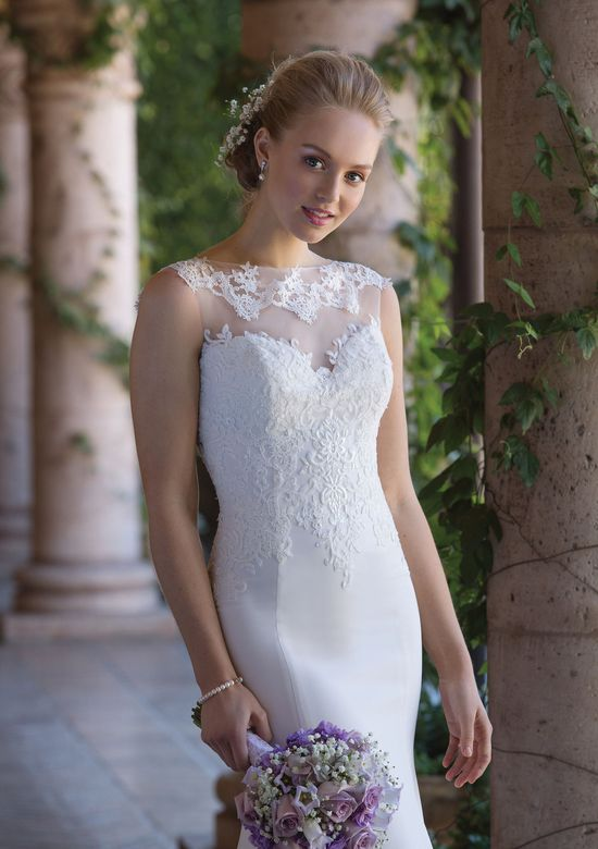Sincerity Bridal Style 4005 Crepe Gown with Illusion Lace Train