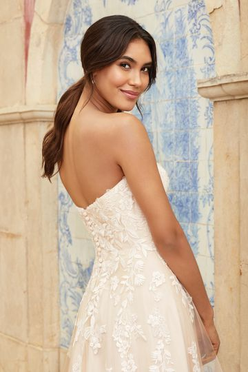 Sincerity Bridal Style 44245 Tulle Sweetheart A-Line Dress with Floating Appliqués