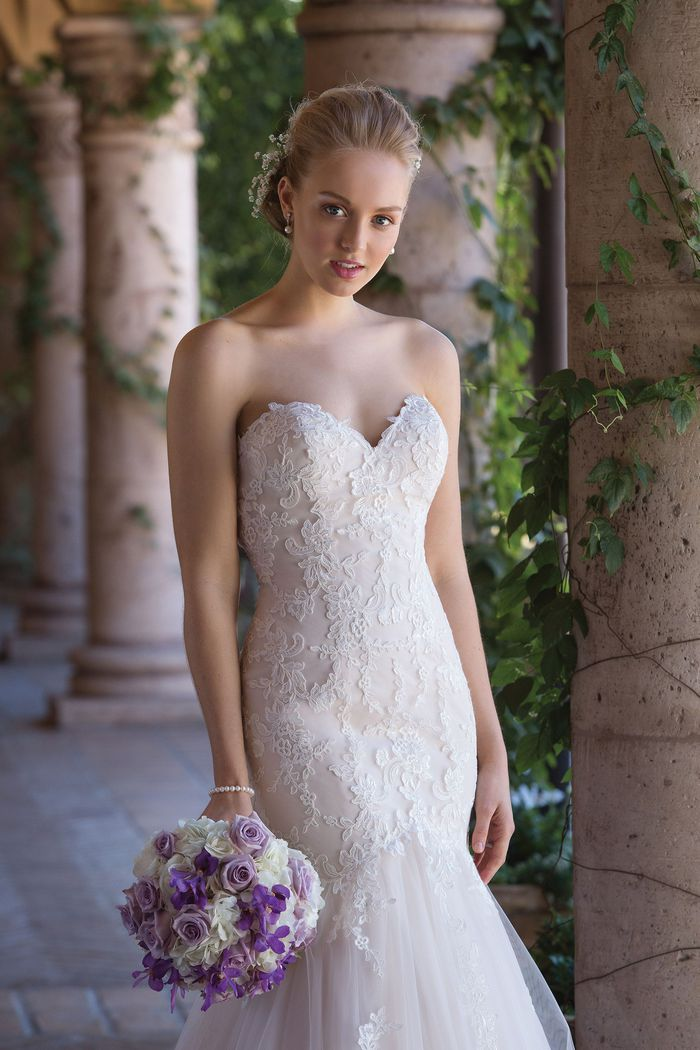 Sincerity Bridal Style 4035 Corded Lace and Tulle Mermaid Gown with Sweetheart Neckline