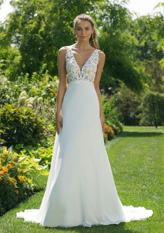 Sweetheart Gowns Style 11027 Natural Waist Gown with Illusion Lace Straps