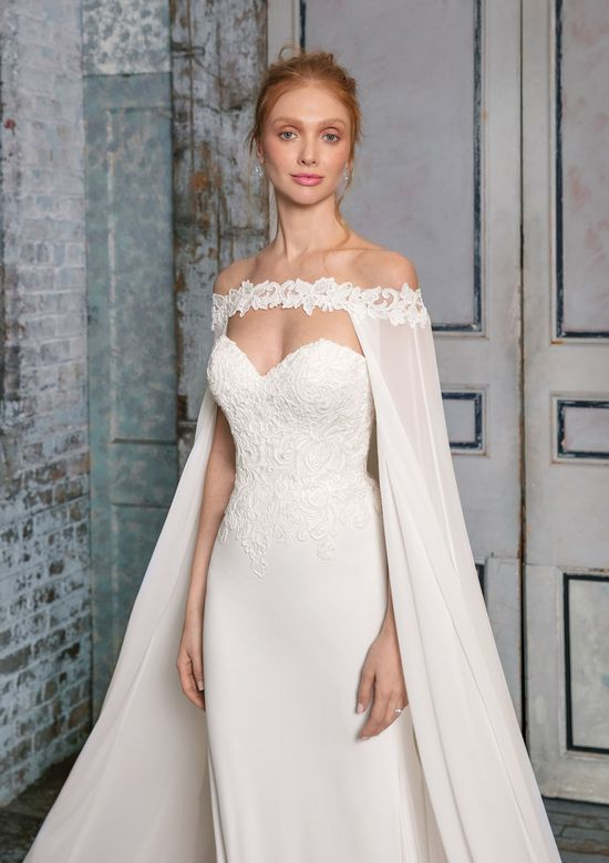 Justin Alexander Signature Style 99019C Off-the-Shoulder Cape