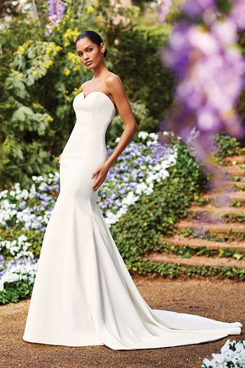Sincerity Bridal Style 44156 Sweetheart Neckline Fit and Flare Gown