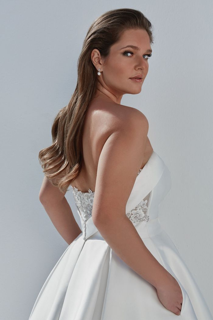 Justin Alexander Style 88110PS Sweetheart Neckline Mikado Plus Size Ball Gown