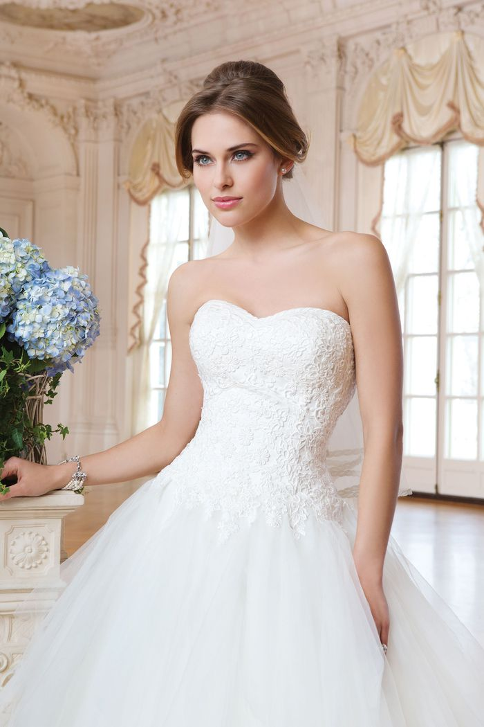Lillian West Style 6354 Layered Tulle Ball Gown with Beaded Bodice