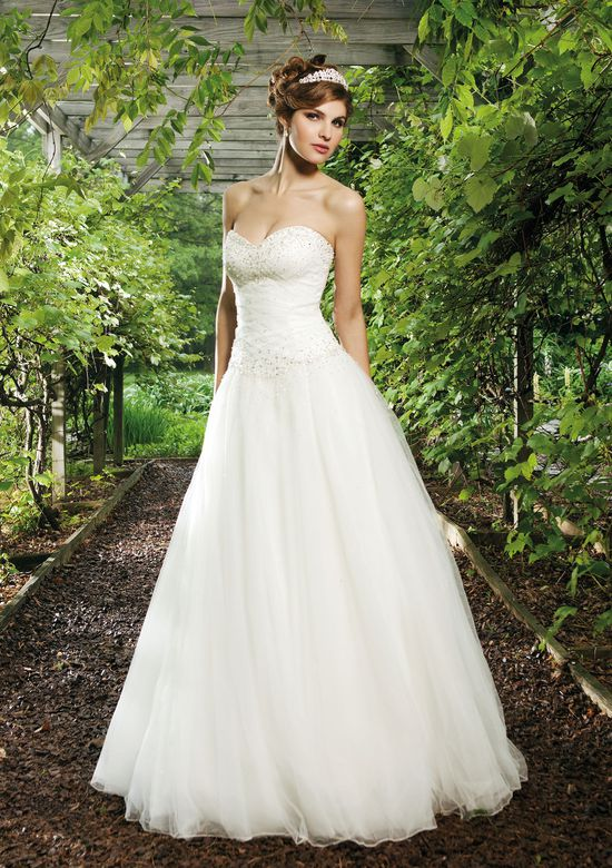 Sincerity Bridal Style 3621 Tulle Ball Gown with Scatter Beaded Bodice