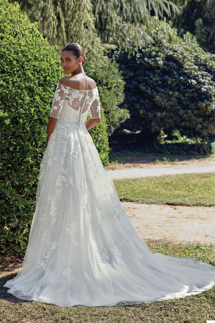Sincerity Bridal Style 44135J Off the Shoulder Embroidered Lace Jacket