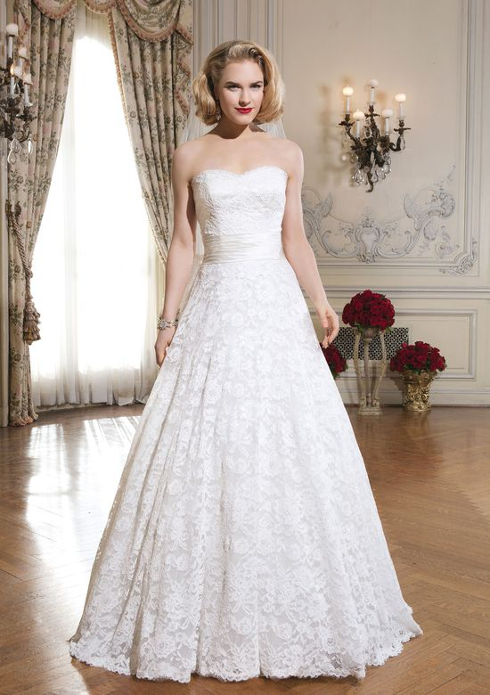 Justin Alexander Style 8557 Corded Lace Ball Gown with Sweetheart Neckline