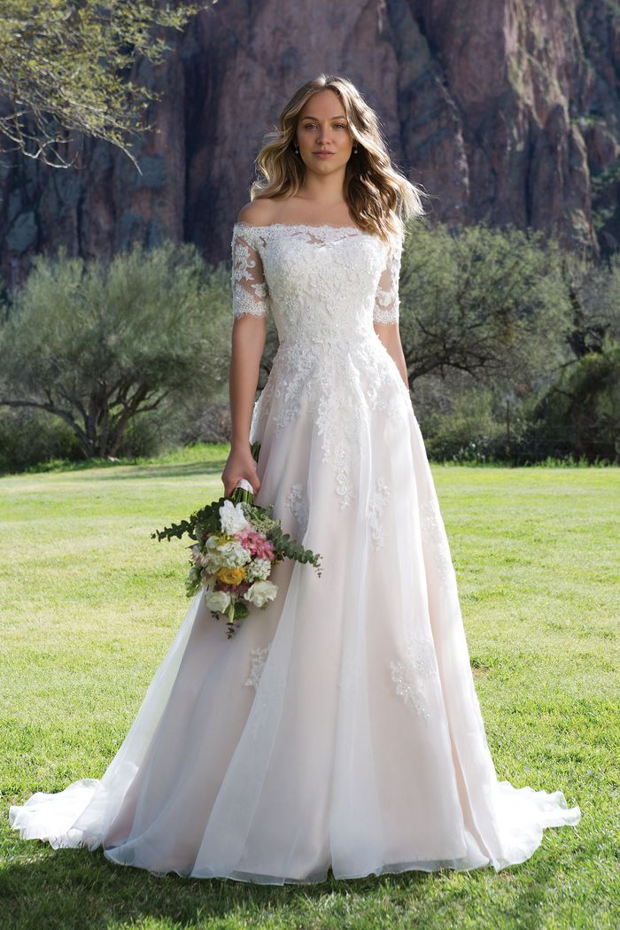 Sweetheart Gowns Style 1147 Corded and Beaded Lace A-line Gown with Jacket