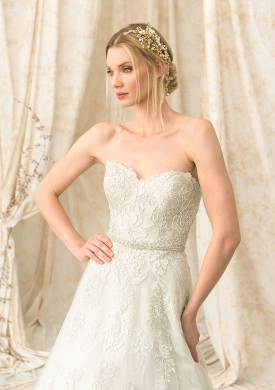 Justin Alexander Signature Embroidered Lace and Sequin A-Line Dress
