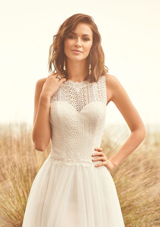 Lillian West Style 66101 Lace Bodice Gathered English Net Dress