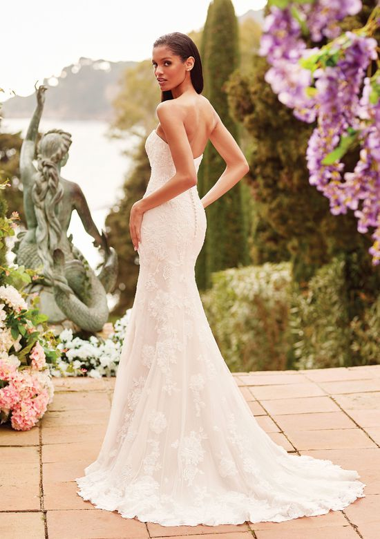 Sincerity Bridal Style 44172 Allover Lace Fit and Flare Gown