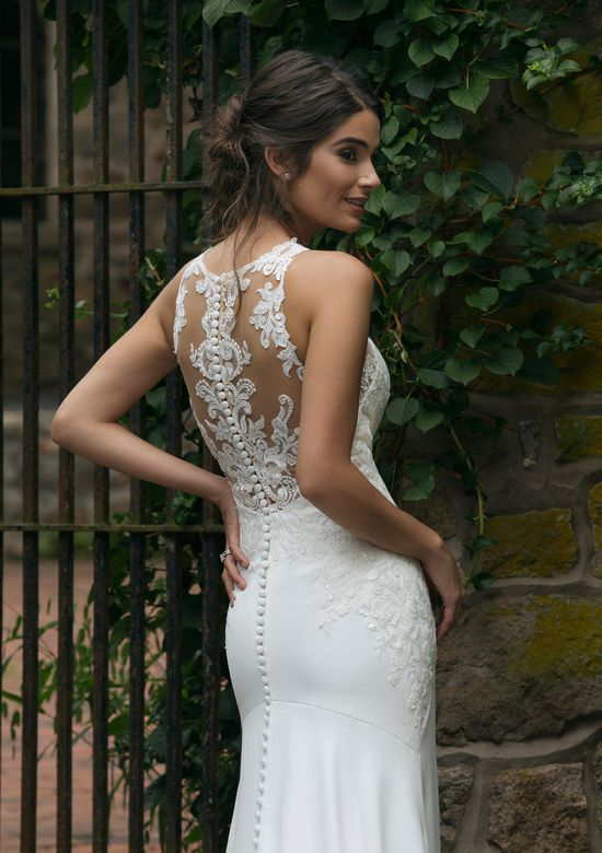 Sincerity Bridal Style 44048 Jewel Lace Illusion Neckline Fit and Flare Gown