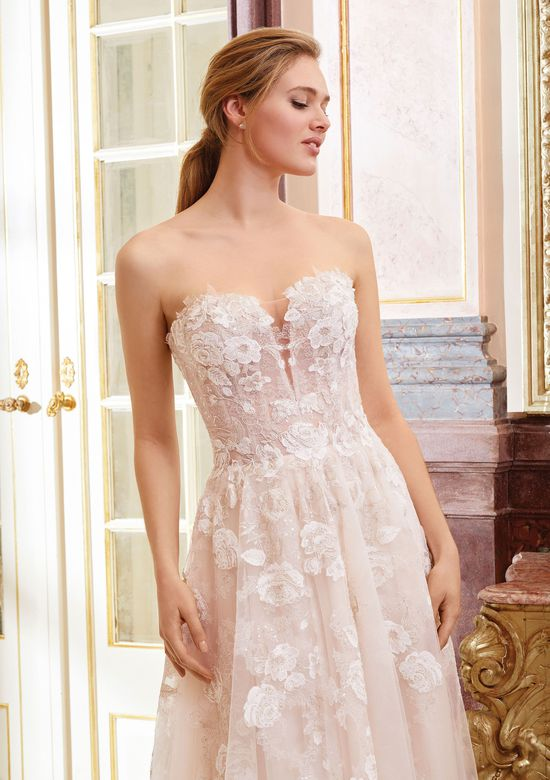 Sincerity Bridal Style 44073 Sweetheart Illusion Bodice with Floral Lace Appliques Dress