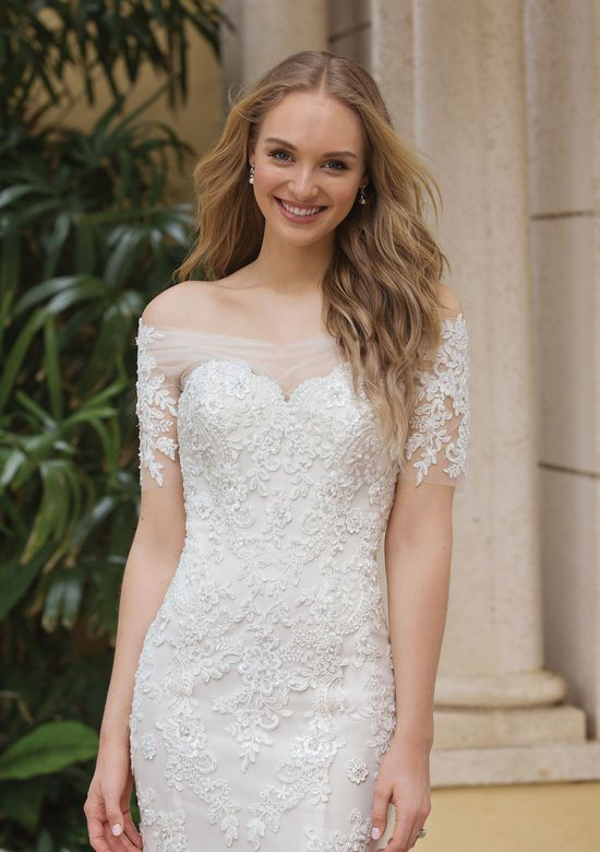 Sincerity Bridal Style 44102 Beaded Lace Gown with Pop-In Off the Shoulder Jacket