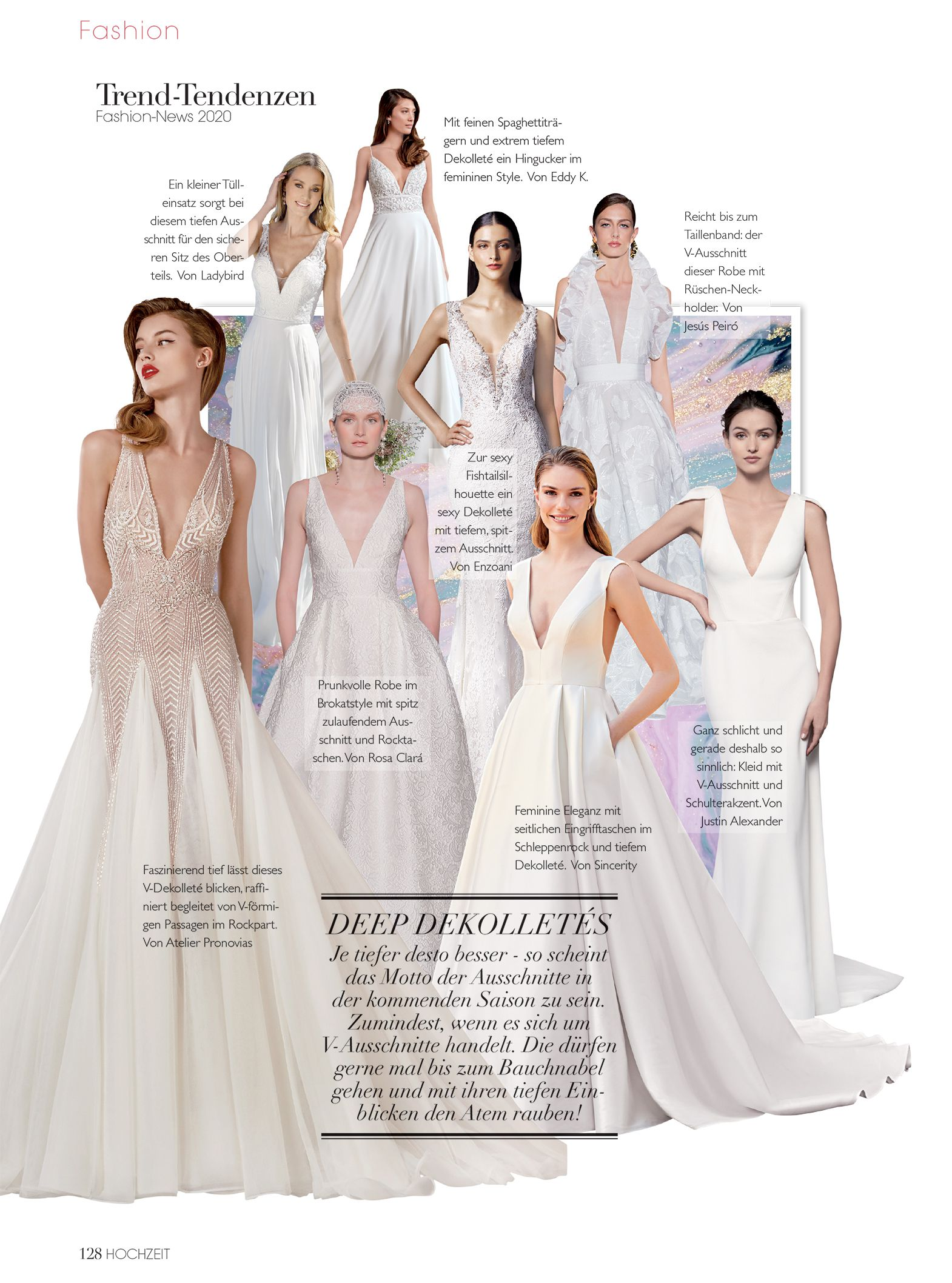 Justin Alexander Signature Style Poppy featured in Hochzeit magazine