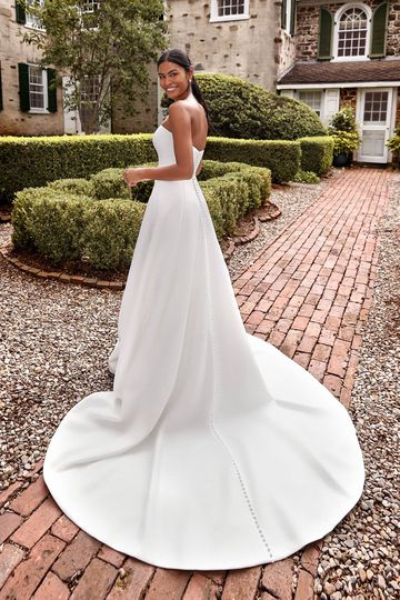 Sincerity Bridal Style 44268 Strapless Satin A-Line Bridal Gown with Sweetheart Neckline
