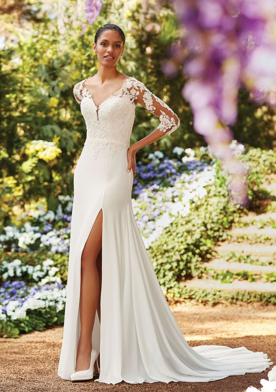 Sincerity Bridal Style 44162 Beaded Lace V-Neckline Gown