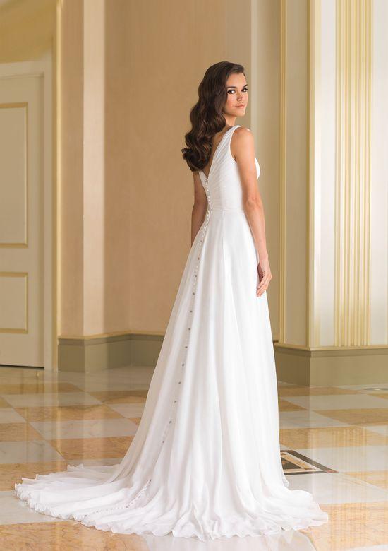 Justin Alexander Style 8863 1920s Circular Cut Chiffon Bridal Gown