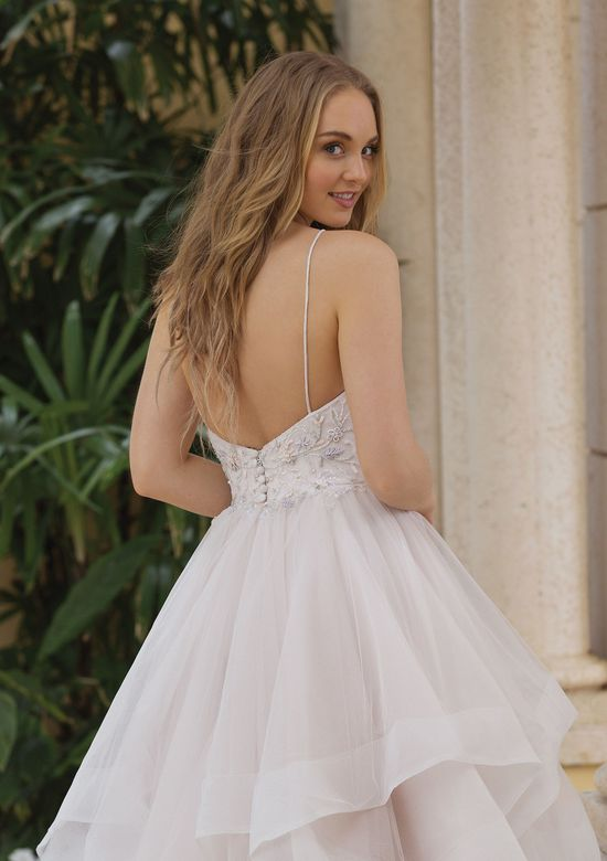 Sincerity Bridal Style 44104 Spaghetti Strap Ruffle Skirt Ball Gown with Horsehair