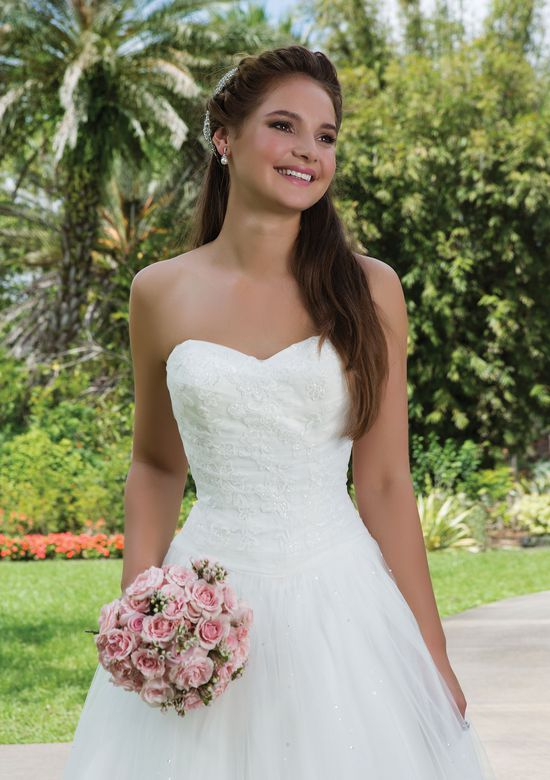 Sweetheart Gowns Style 6123 Beaded Tulle Ball gown with a Sweetheart neckline