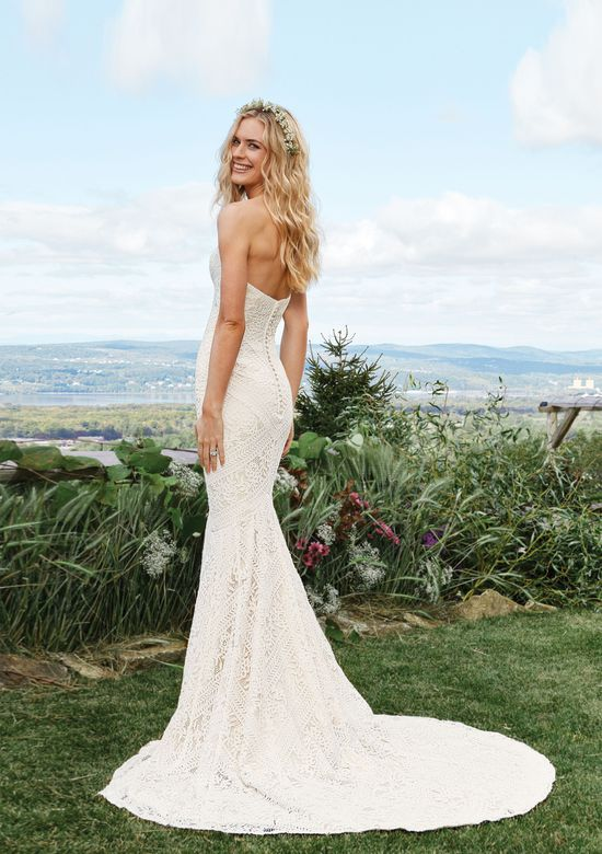 Lillian West Style 6425 Allover Lace Mermaid Gown with Sweetheart Neckline