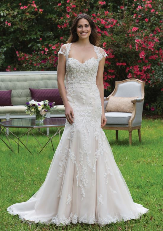 Sincerity Bridal Style 3967 Tulle and Beaded Lace Gown with Sweetheart Neckline