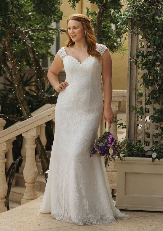 Sincerity style 44053 Slim Allover Lace Gown with Low Back