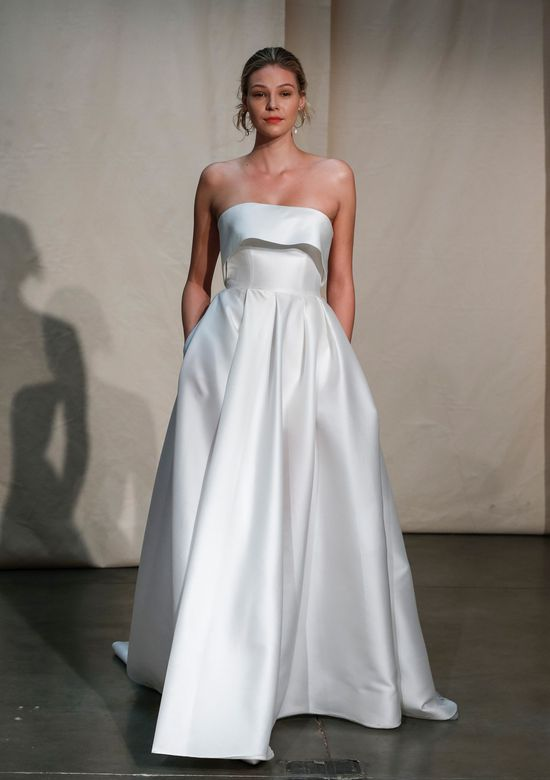 Justin Alexander Signature Style 99094 Alder Silk Mikado Cuff Ball Gown With Slit