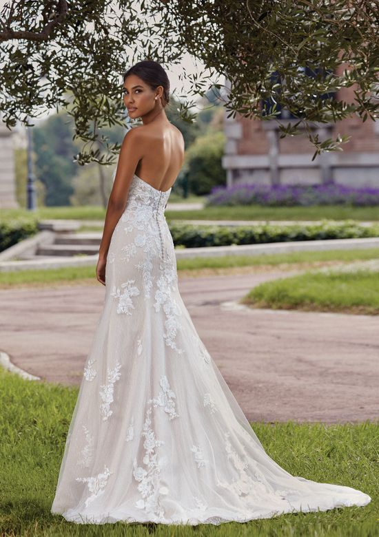 Sincerity Bridal Style 44138 Strapless Sweetheart Gowns Style  A-line Gown with Venice Lace Appliques