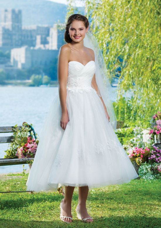 Sweetheart Gowns Style 6085 Tulle ball gown featuring a sweetheart neckline.