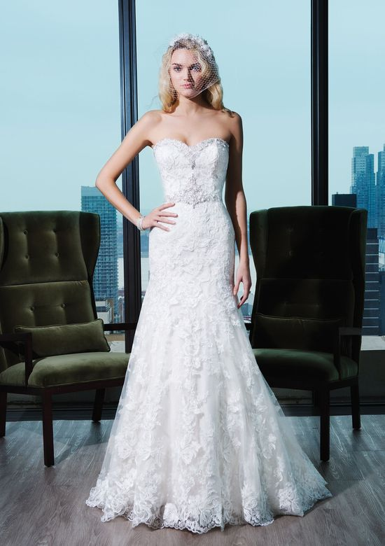 Justin Alexander Signature Style 9771 Embroidered Lace Fit and Flare Dress