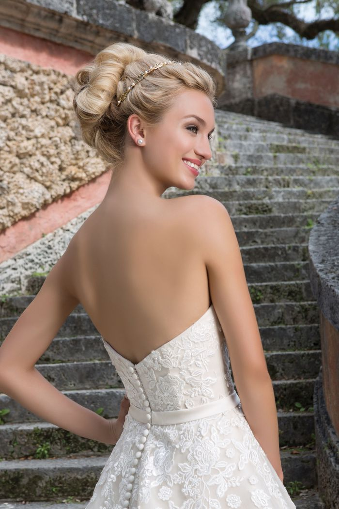 Sincerity Bridal Style 3907 Beaded Lace; Tulle Ball gown accentuated with a Sweetheart neckline