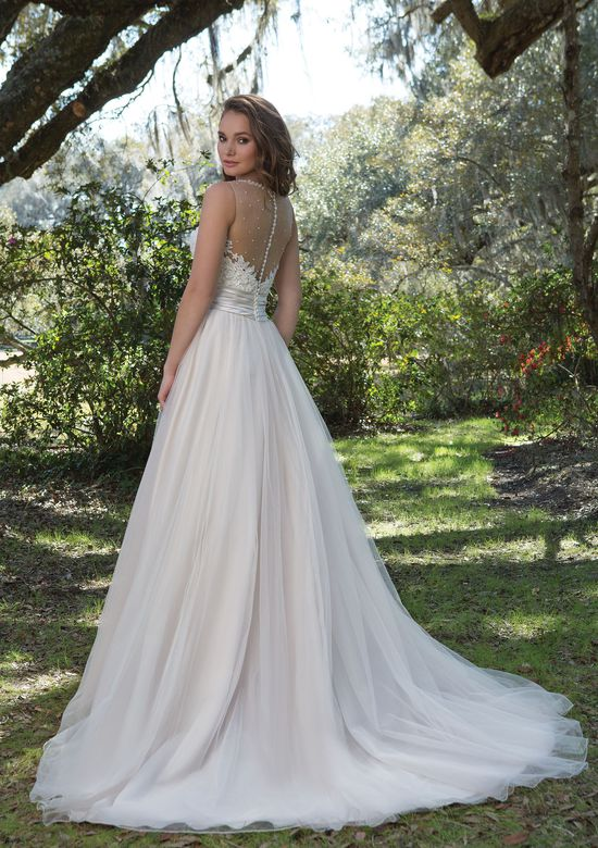Sweetheart Gowns  Satin A-Line Gown with Sweetheart Neckline