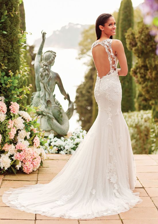 Sincerity Bridal Style 44171 Fit and Flare Gown with Beaded Embroidered Lace
