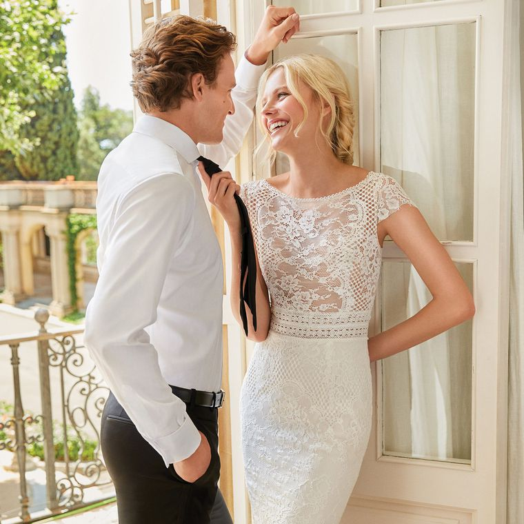 Sincerity style 44092 Illusion Bodice Gown with Allover Lace
