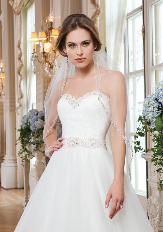 Lillian West Style 6347 Tulle Ball Gown with Ruched Bodice