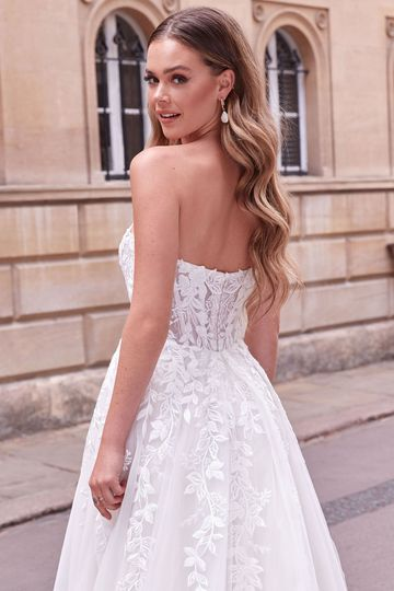 Adore by Justin Alexander Style 11181 Allegra Strapless Sweetheart Neckline Slim Ball Gown with Exposed Boning