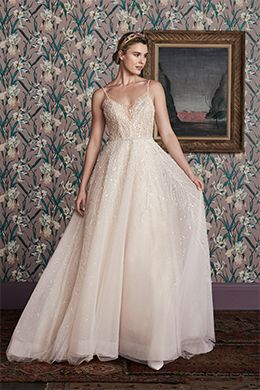 beaded bridal ball gown