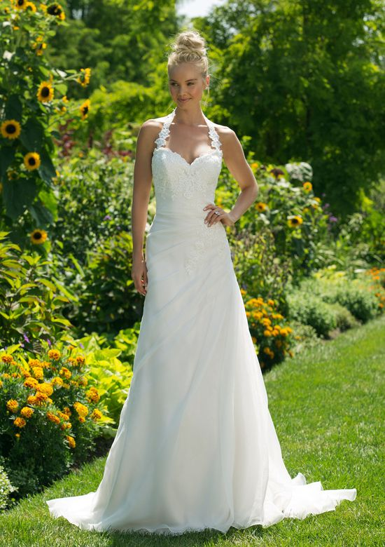 Sweetheart Gowns Style 11040 Empire Waist A-line Gown with Lace Halter Neckline