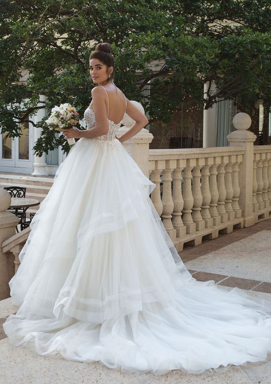 Sincerity style 44090 Ball Gown with Beaded Bodice and Full Ruffle Skirt
