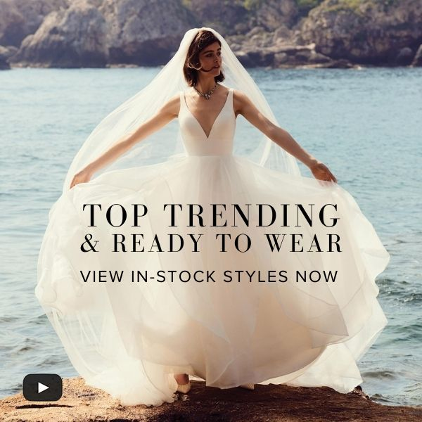 Justin Alexander top trending and in-stock styles virtual trunk show