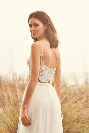 Lillian West Style 66090 Two Piece Lace A-Line Dress