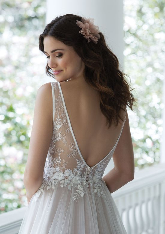 Sincerity Bridal Soft Tulle and Lace A-Line Gown with Low Illusion Back