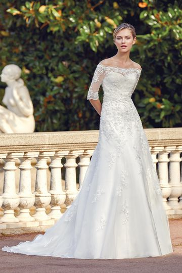 Sincerity Bridal Style 44127 Beaded Lace Applique A-Line Gown with Jacket