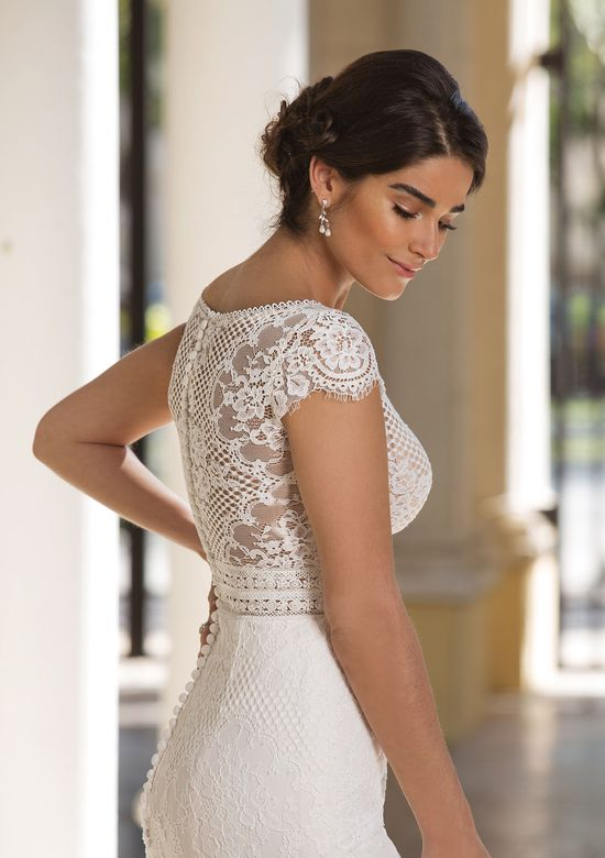 Sincerity Bridal Style 44092 Illusion Bodice Gown with Allover Lace